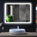 DECORAPORT 48 x 36 Inch LED Bathroom Mirror/Dress Mirror with Touch Button, Anti Fog, Dimmable, Vertical & Horizontal Mount (NT07-4836)