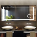 DECORAPORT 70 x 32 Inch LED Bathroom Mirror/Dress Mirror with Touch Button, Magnifier, Anti Fog, Dimmable, Vertical & Horizontal Mount (KT02-7032)