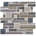 12 in. x 12 in. Electroplated Glass Mosaic Tile - 8mm Thickness (DK-MG104823Y714D)