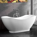 67 In Double Slipper Freestanding Bathtub – Acrylic White (DK-MEC3159B)