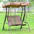 Double-Seat Patio Swing with Iron Frame (YZ-016)