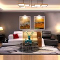 Black Curved Sectional Sofa in Leather with Storage (LH-6068-1)