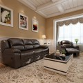 Chocolate Manual Reclining Chair in Faux Leather (LH-806-1)