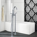 Freestanding Bathtub Faucet with Hand Shower - Brass with Chrome Finish (DK-9105)