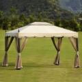 9.84 ft. x 11.81 ft. Roman Style Cabin Gazebo (LM-003)
