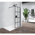 47 In. Shower Door In Matte Black Aluminum (ZY-7008B)