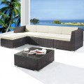 Wicker Patio Sectional with Cushion (JMS-663)