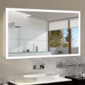55 x 36 In Horizontal Dimmable LED Bathroom Mirror with Anti-fog and Bluetooth Function (DK-OD-N031-T)
