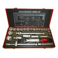 1/2 Inch Drive 27 Pieces Socket Set with Metal Box (TK-012)
