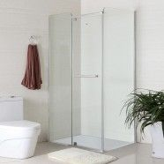 48 x 32 In. (120 x 80 cm) Clear Tempered Glass Freestanding Shower Stall (WD-03)