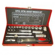 3/8 Inch 22pcs Socket Wrench Set (TK-008)