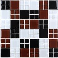 12 in. x 12 in. Electroplated Glass Mosaic Tile - 8mm Thickness (P2348B)