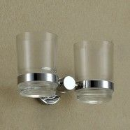 Round Double Tumbler Holder - Aluminum Alloy(60568)