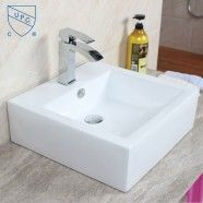 Decoraport White Square Ceramic Above Counter Basin (CL-1176)