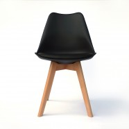 PU Leather Dining Chair in Black (T826E003-BK)