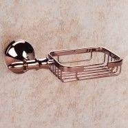 Soap Holder - Rose Gold Brass (90359E)