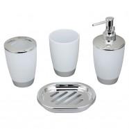 4-Piece Bathroom Accessory Set, White (DK-ST009)
