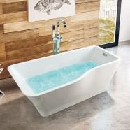 67 In Freestanding Bathtub - Acrylic White (DK-SLD-YG871)