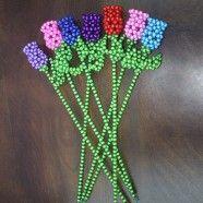 Beaded Ornament Kit/Fancy Rose Beads Modeling (DK-CZ09)