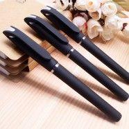 Rollerball Pen, Black Rubberized Barrel, 0.5mm, 10/pack (DK-ZXB18)