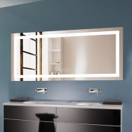 71 x 32 In Horizontal Dimmable LED Bathroom Mirror with Anti-fog and Bluetooth Function (DK-OD-CK010-T)