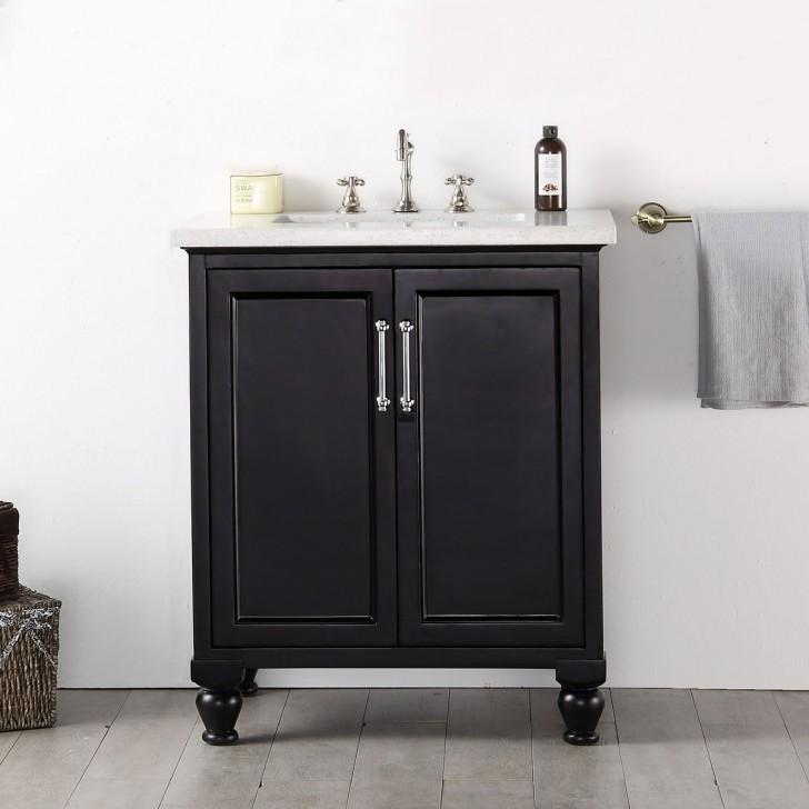 30 po Meuble Salle de Bain/Vanité Sur Pieds à Lavabo Simple (DK-6530-E)