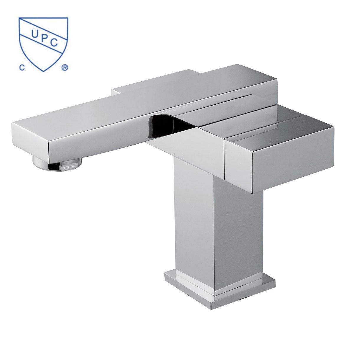 robinet de lavabo vasque simple trou double levier laiton fini chrome 6051 decoraport canada. Black Bedroom Furniture Sets. Home Design Ideas