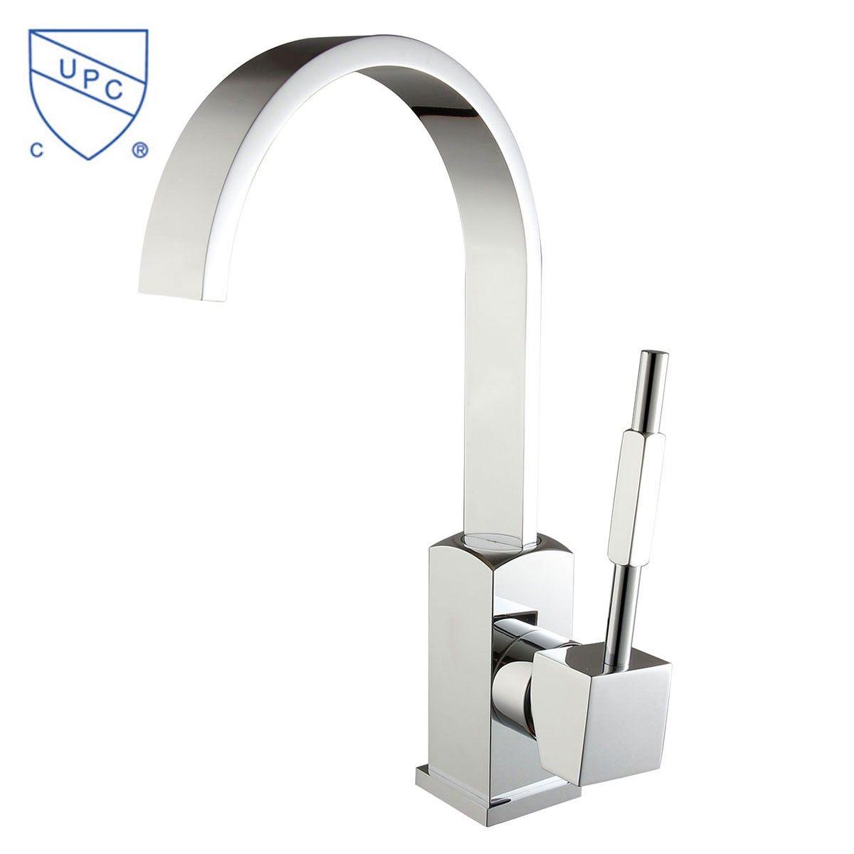 Robinet de Lavabo&Vasque - Simple Trou Simple Levier - Laiton Fini Chrome (6211)
