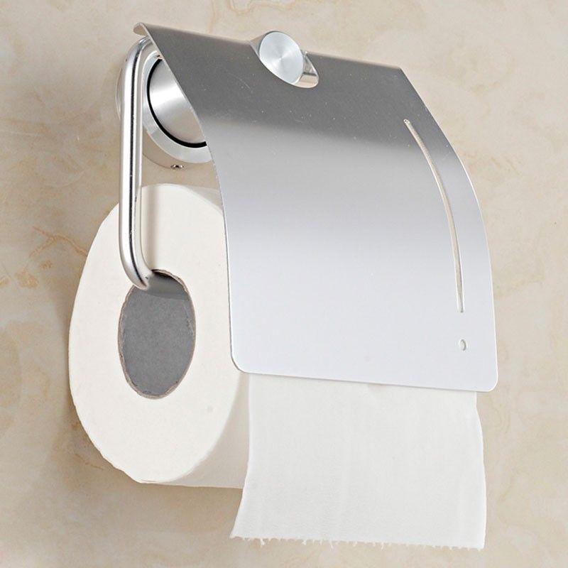 Support pour Papier Hygiénique - Alliage d'Aluminium Anti-Oxydation (60551)