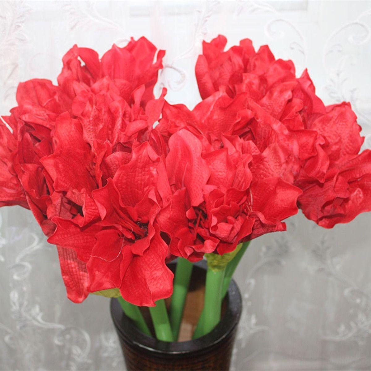 """Artificial Clivia Flower/Piece - 20"""" - Red"""