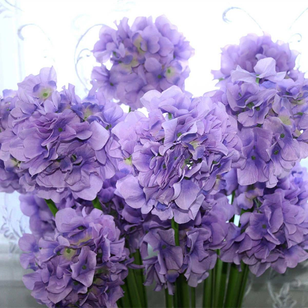 """Fleur de Hortensia Artificielle/2 Têtes/Pièce - 35"""""""