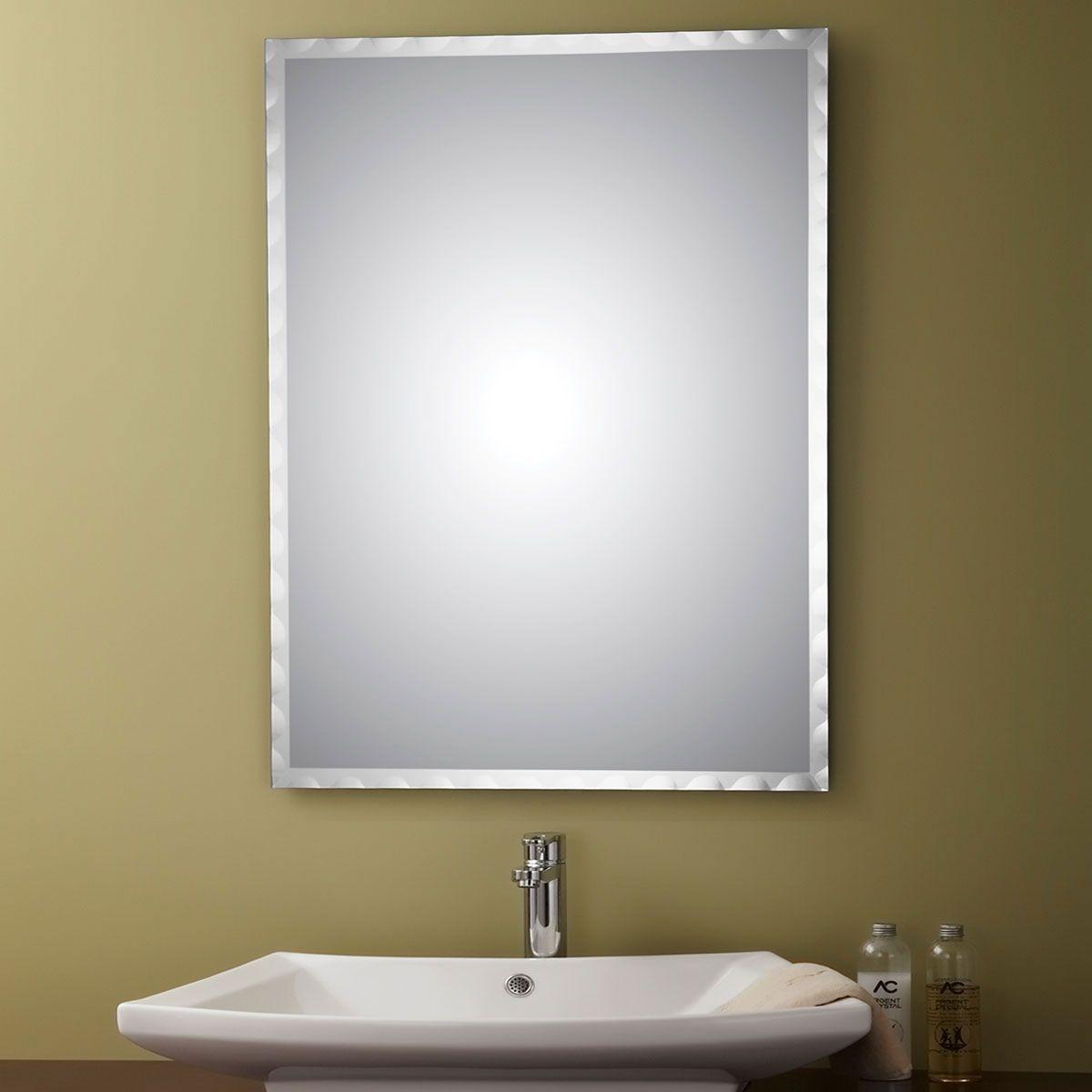 24 x 32 po Miroir Argenté Sans Cadre de Salle de Bains ...