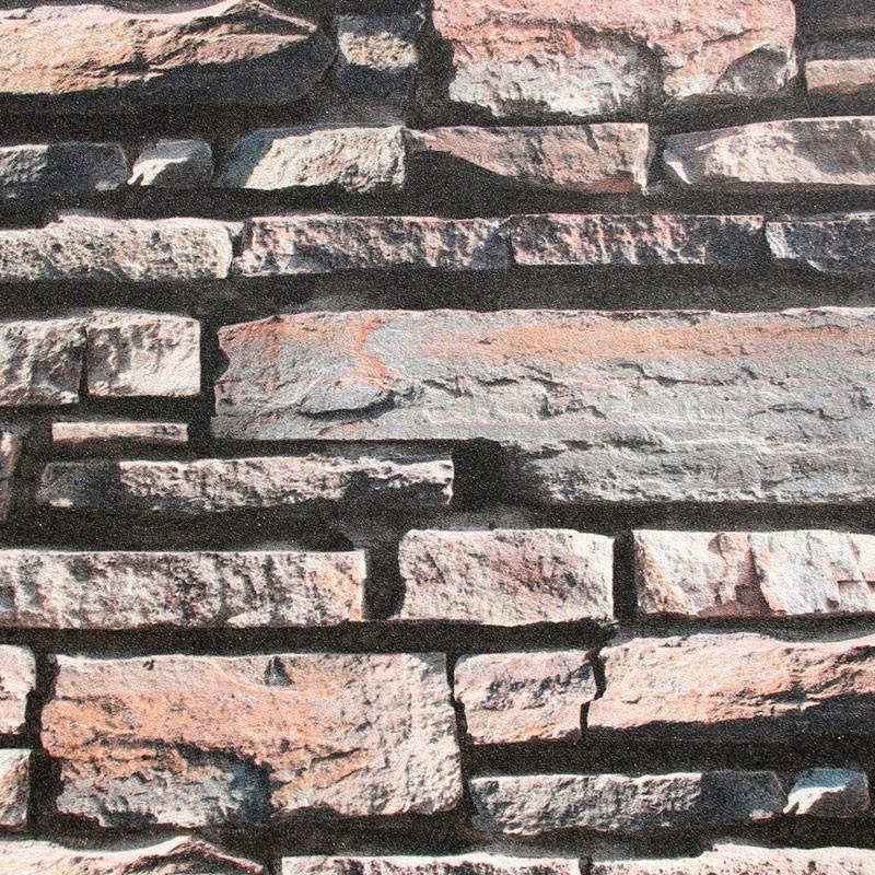 Papier Peint Rustique en Brique Imitation (57 sq.ft/Rouleau) (DK-SE452002)
