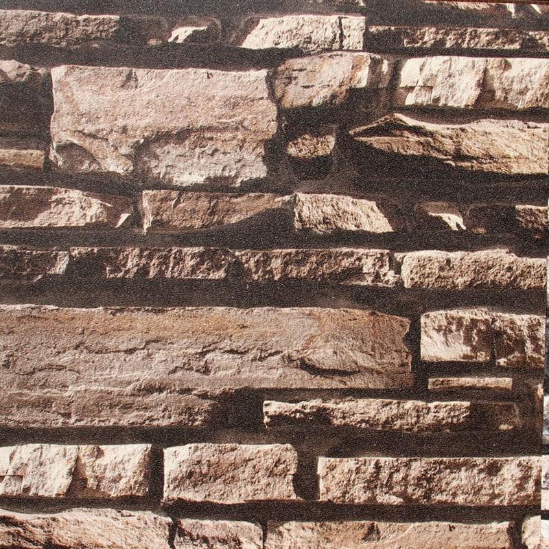 Papier Peint Rustique en Brique Imitation (57 sq.ft/Rouleau) (DK-SE452003)