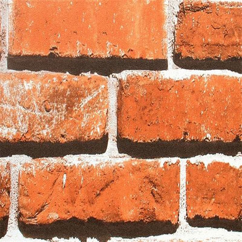 Papier Peint Rustique en Brique Imitation (57 sq.ft/Rouleau) (DK-SE453003)