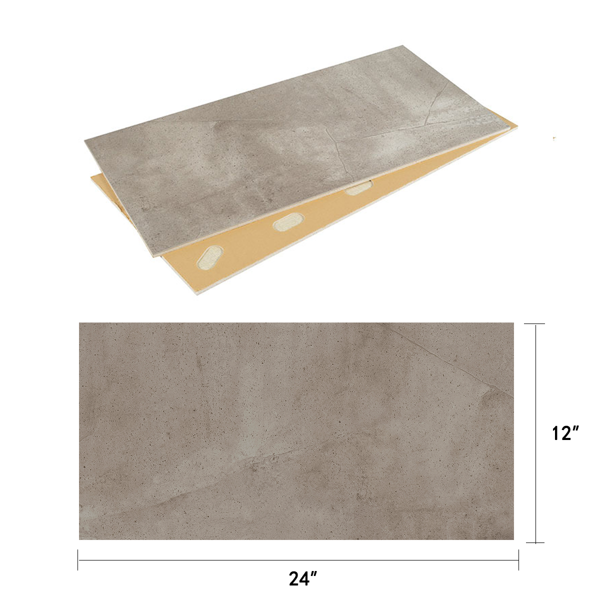 DECORAPORT NSM Panneau Mural, Pierre Classique,24'' x12'' (NCS-01) (10 Pcs-Paquet) (20,01 sq.ft/ Paquet)