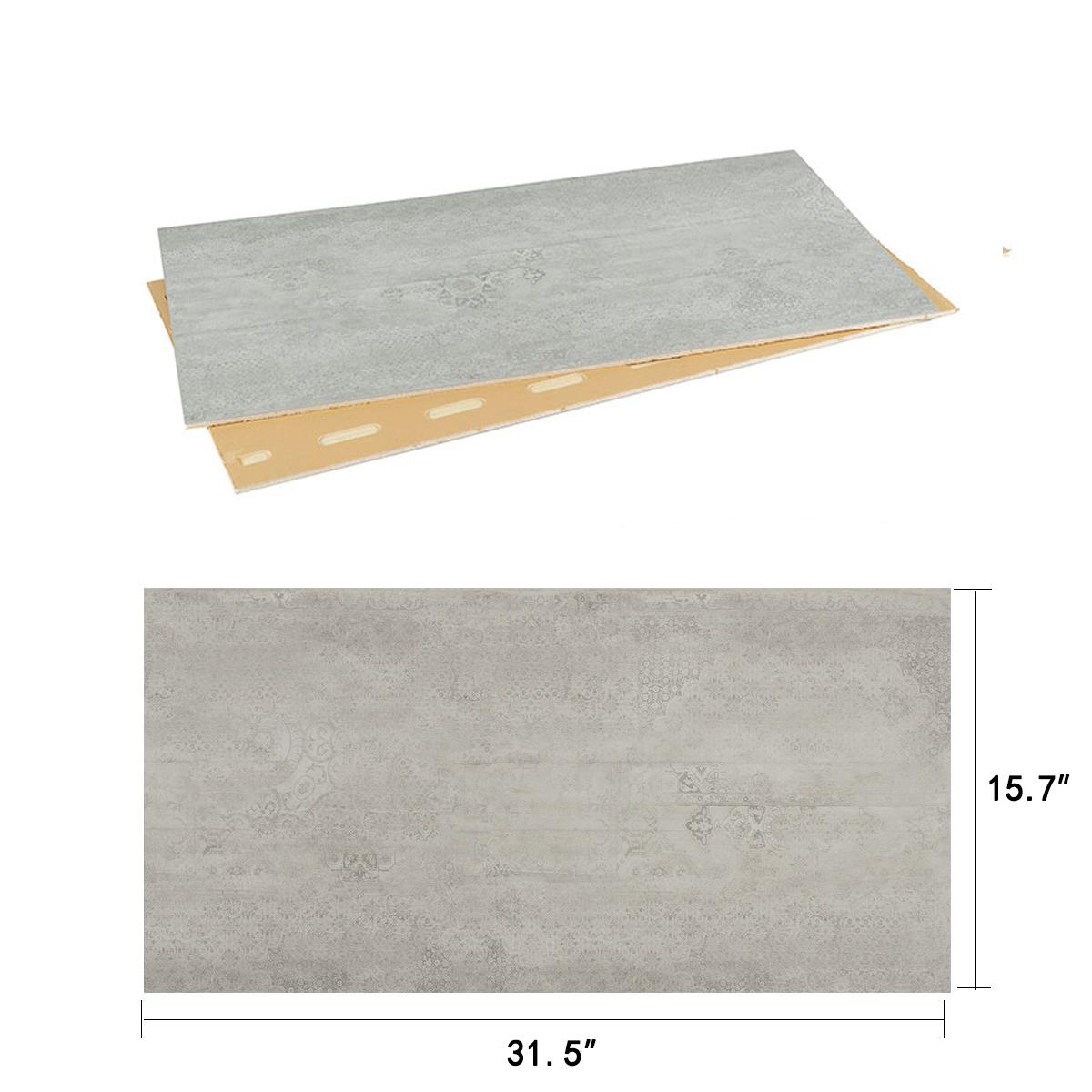 DECORAPORT NSM Panneau Mural, Béton Lavé,31.5'' x15.7'' (NWC-01) (6 Pcs-Paquet) (20,66 sq.ft/ Paquet)
