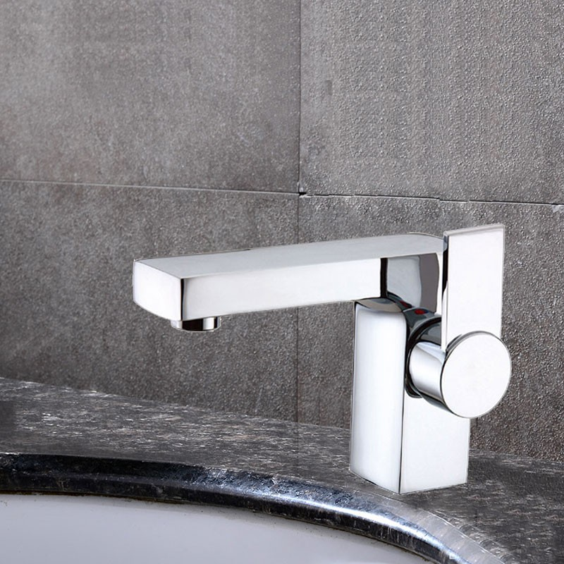 Decoraport Robinet de Lavabo&Vasque - Laiton Fini Chrome (6053CH)