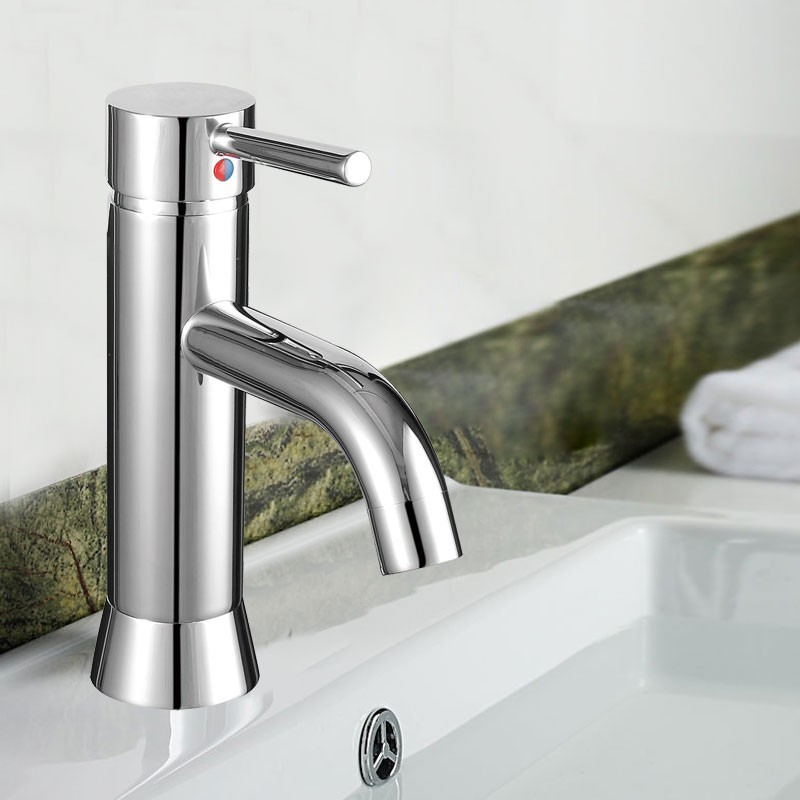 Decoraport Robinet de Lavabo&Vasque - Laiton Fini Chrome (YDL-5921)