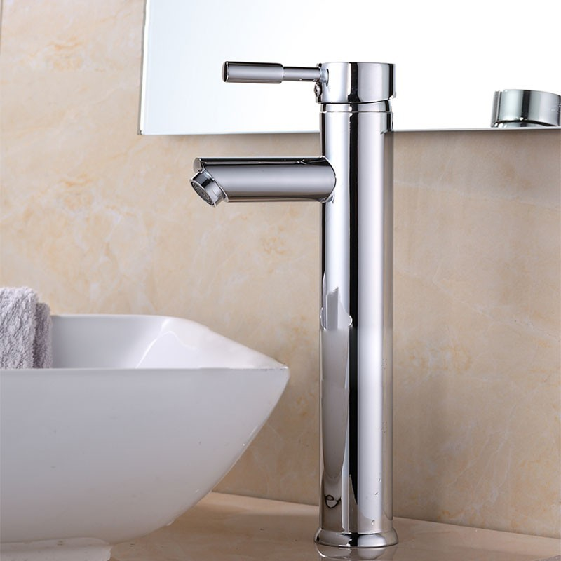 Decoraport Robinet de Lavabo&Vasque - Laiton Fini Chrome (5520G)