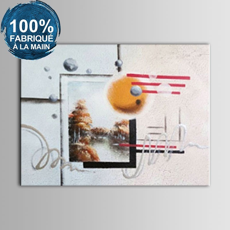 Peinture à l'Huile Abstraite 100% Peinte à la Main sur Canevas (DK-JX-YH02)