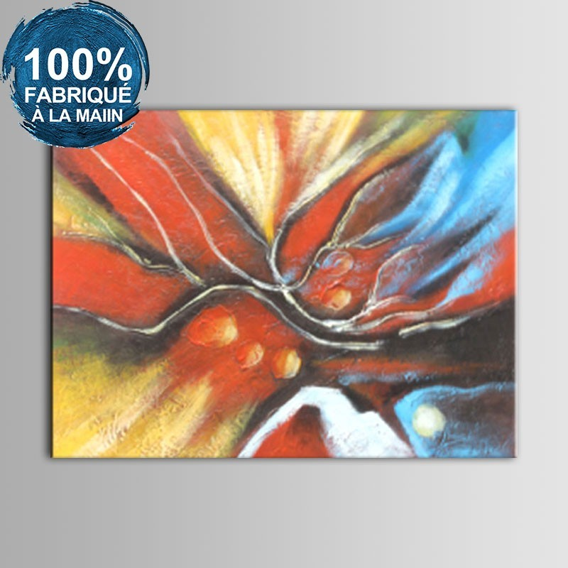 Peinture à l'Huile Abstraite 100% Peinte à la Main sur Canevas (DK-JX-YH027)