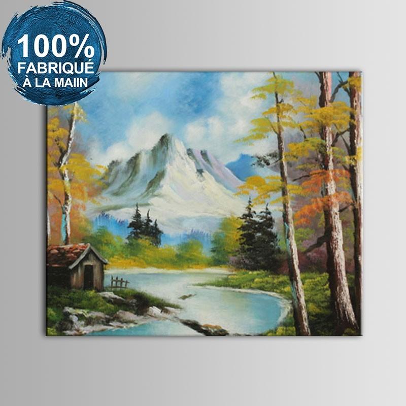 Peinture à l'Huile 100% Peinte à la Main sur Canevas - Paysage Abstrait (DK-JX-YH058)