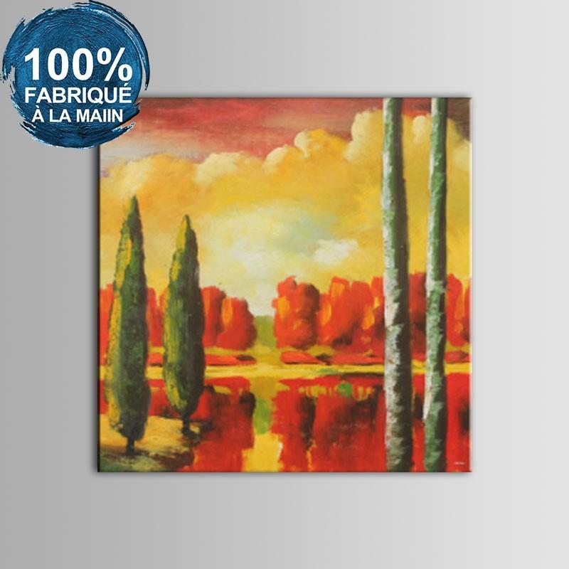 Peinture à l'Huile 100% Peinte à la Main sur Canevas - Paysage Abstrait (DK-JX-YH057)