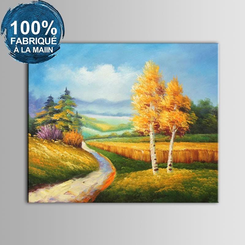 Peinture à l'Huile 100% Peinte à la Main sur Canevas - Paysage Abstrait (DK-JX-YH055)