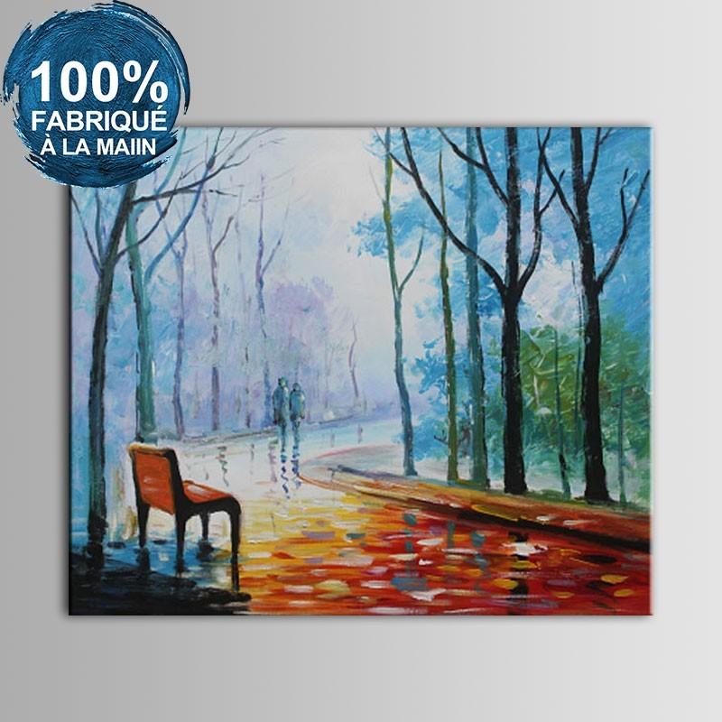 Peinture au Couteau 100% Peinte à la Main sur Canevas - Paysage Abstrait (DK-JX-YH015)