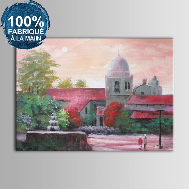 Peinture à l'Huile 100% Peinte à la Main sur Canevas - Manoir Abstrait (DK-JX-YH046)