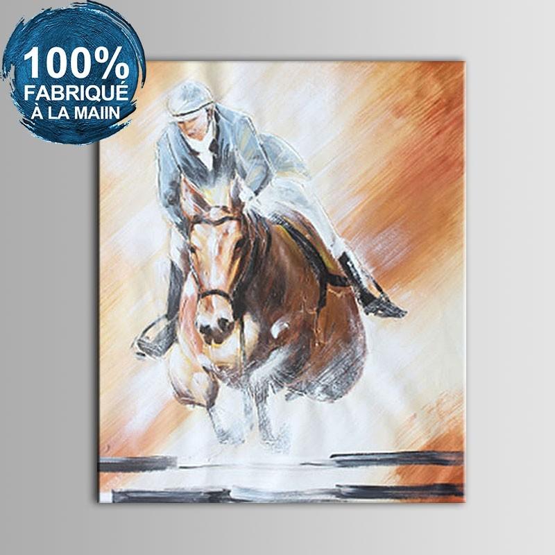 Peinture à l'Huile 100% Peinte à la Main sur Canevas - Personnage Abstrait (DK-JX-YH06)