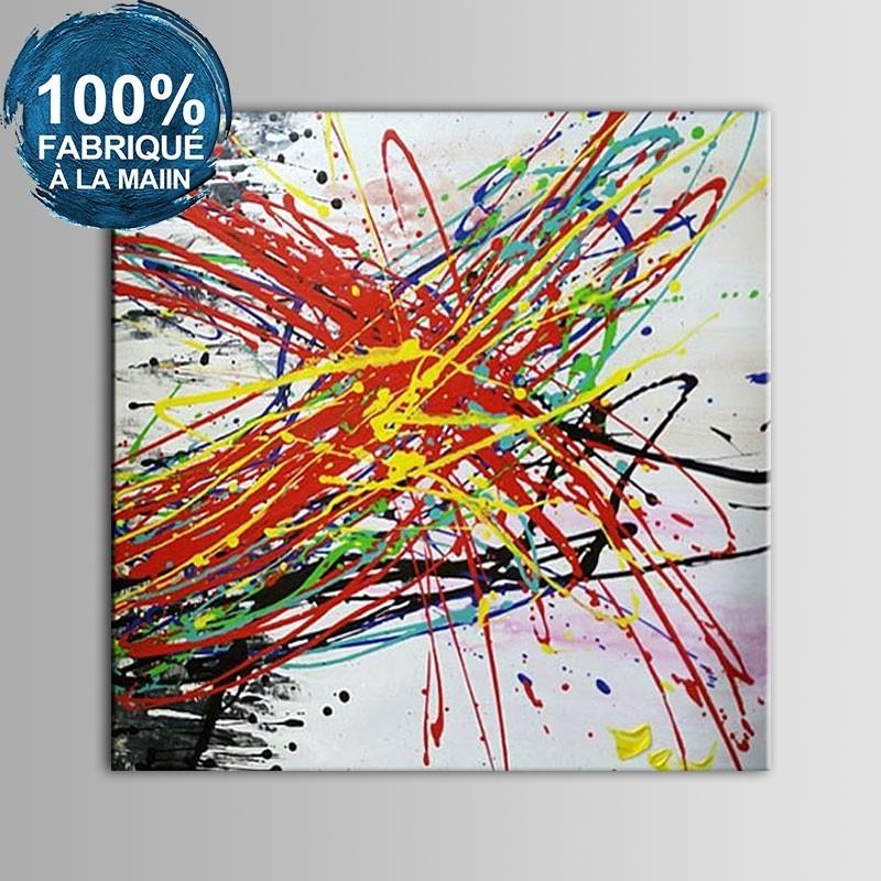 Peinture à l'Huile Abstraite 100% Peinte à la Main sur Canevas sans Cadre (DK-JX-YH07)