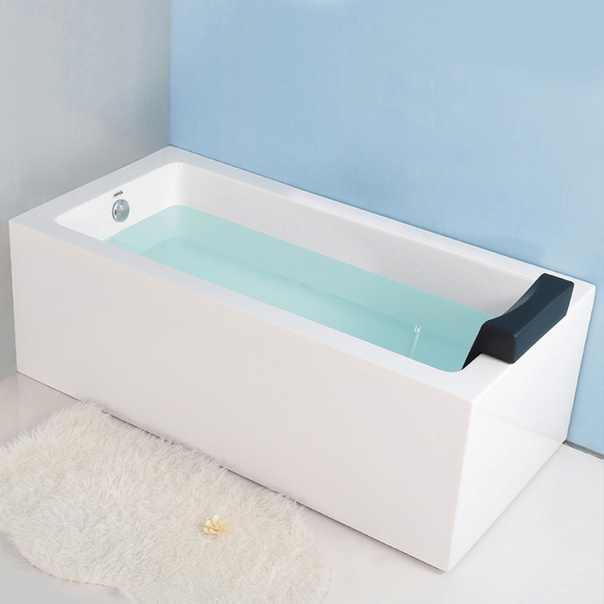 59 po baignoire d 39 angle rectangulaire en acrylique avec for Baignoire d angle avec porte